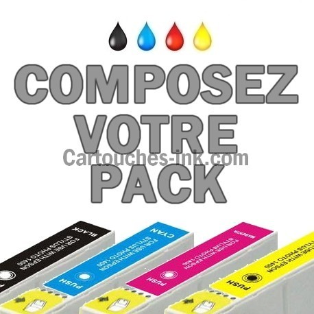 Cartouches compatibles Epson T1291, T1292, T1293, T1294, lot T1295