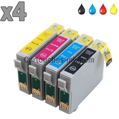 4 cartouches compatibles Epson T0711 à T0714 lot T0715
