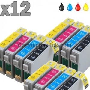 12 cartouches compatibles Epson T0711 à T0714 lot T0715