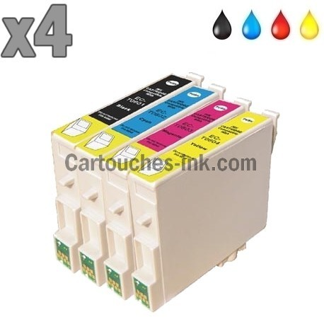 4 cartouches compatibles Epson T0551 à T0554 lot T0556