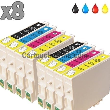 8 cartouches compatibles Epson T0551 à T0554 lot T0556
