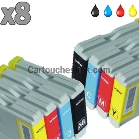 8 cartouches compatibles Brother LC970 / LC1000