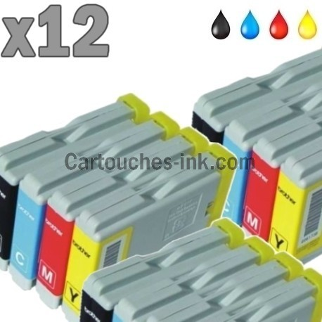 12 cartouches compatibles Brother LC970 / LC1000