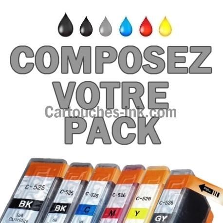Cartouches compatibles Canon PGI-525 CLI-526