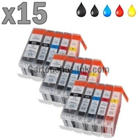 15 cartouches compatibles Canon PGI-525 CLI-526