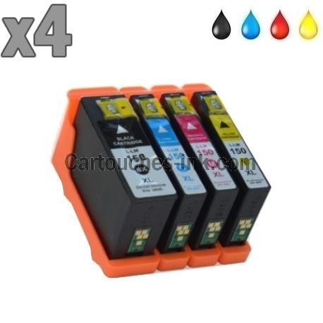 4 cartouches compatibles Lexmark 150XL / 155XL