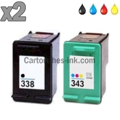 Cartouches compatibles HP338 et HP343