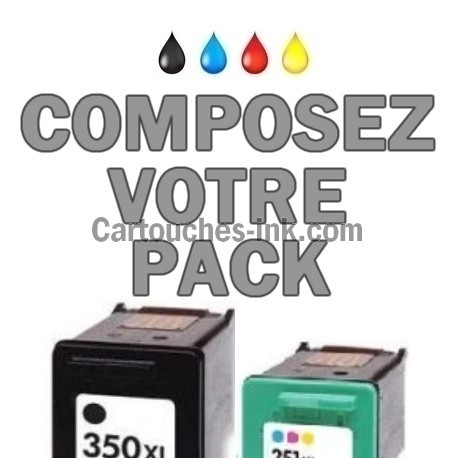 Cartouches compatibles HP350XL HP351XL