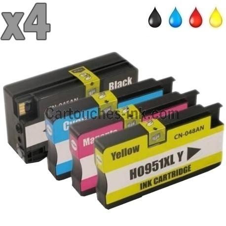 4 cartouches compatibles HP 950XL et HP 951XL