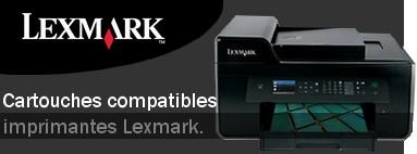 Cartouches compatibles pour les imprimantes Lexmark