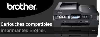Cartouches compatibles pour les imprimantes Brother.