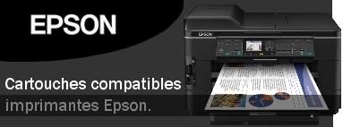 Cartouches compatibles imprimantes Epson.